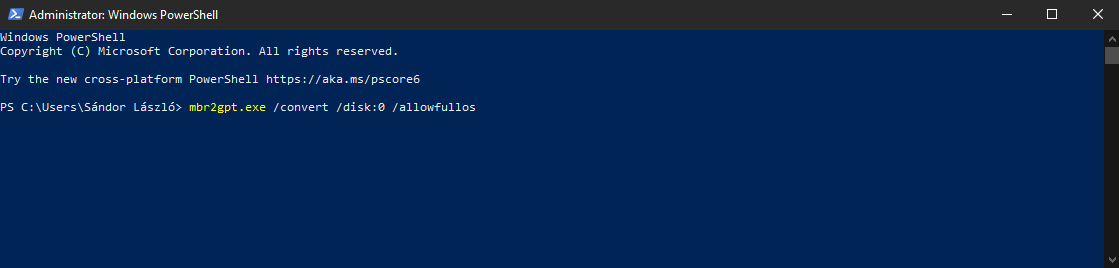 Inaccessible boot device Windows PowerShell
